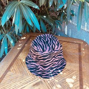 Accessories - Atlanta Rust & Black Zebra Stripe Bucket Hat